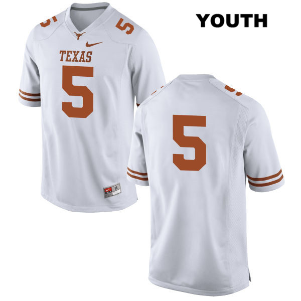 Nike Tre Watson Texas Longhorns no. 5 Youth Stitched White Authentic College Football Jersey - No Name - Tre Watson Jersey