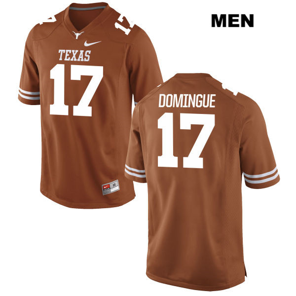 Trent Domingue Texas Longhorns Nike no. 17 Mens Orange Stitched Authentic College Football Jersey - Trent Domingue Jersey