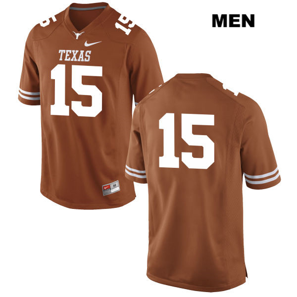 Trey Holtz Texas Longhorns Nike no. 15 Mens Orange Stitched Authentic College Football Jersey - No Name - Trey Holtz Jersey