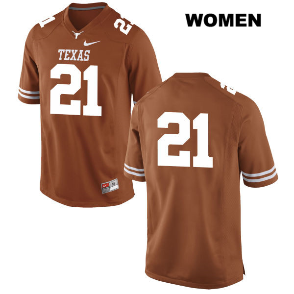 Turner Symonds Texas Longhorns Nike no. 21 Womens Stitched Orange Authentic College Football Jersey - No Name - Turner Symonds Jersey