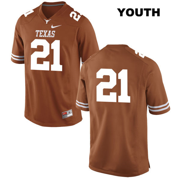 Turner Symonds Texas Longhorns Stitched no. 21 Youth Nike Orange Authentic College Football Jersey - No Name - Turner Symonds Jersey
