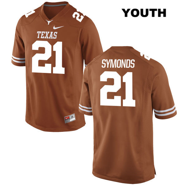 Stitched Turner Symonds Nike Texas Longhorns no. 21 Youth Orange Authentic College Football Jersey - Turner Symonds Jersey